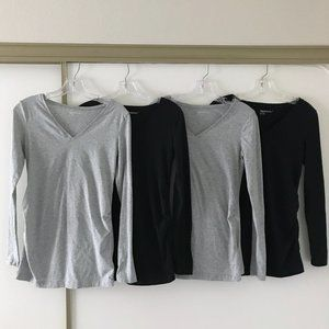 (Set of 4) GAP Maternity Pure Body LS t-shirts SM
